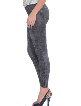 2017 Spring Autumn New Fashion Skinny Slim Thin High Elastic Waist Washed Jeans leggings Pencil Pants Denim Leggings For Women 8