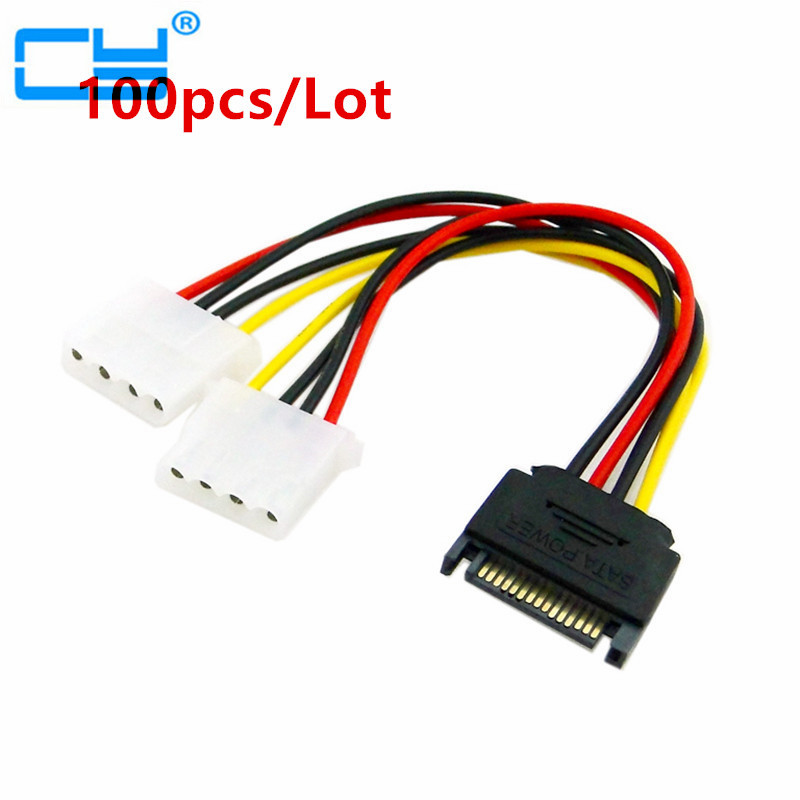 SHIPS FROM USA Lot of 5x LP4 Molex to P4 4 Pin Converter Power Adapter Cable