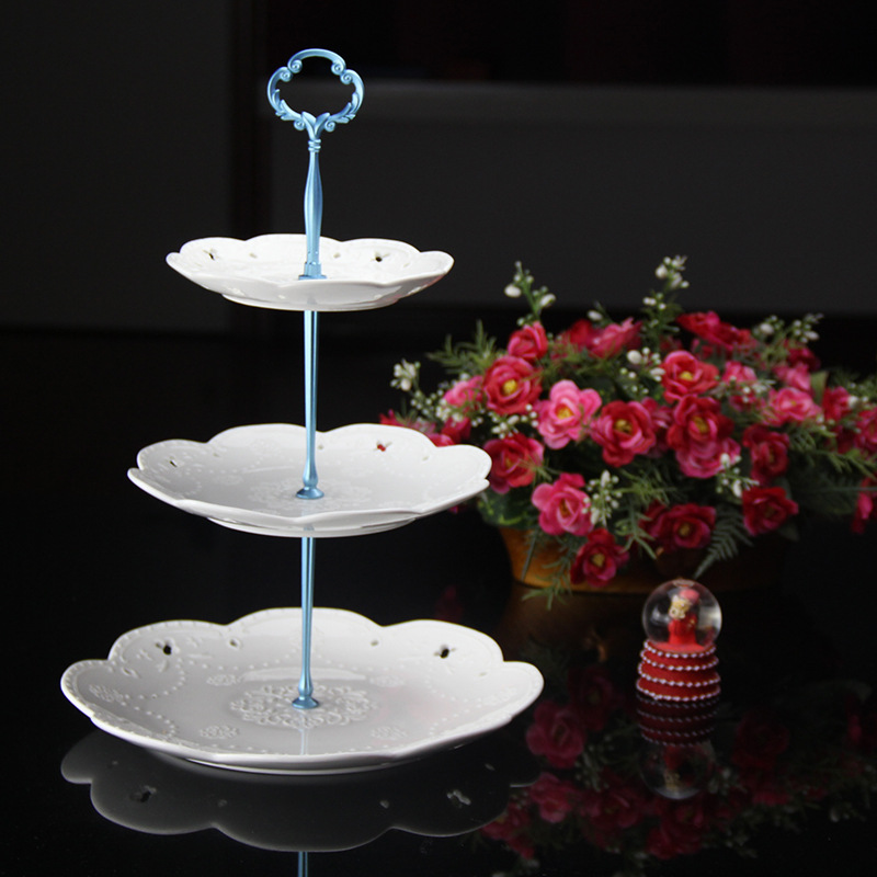 New 2 Size 50 sets/ bag 3 Tier Cake Stand centre handles cake plate Holder Metal cake stand hardware allow mix color & designs