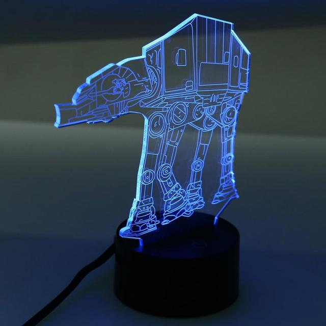 Novelty Lights Special Design USB 3D Optical Illusion Millennium Imperial Walker AT-AT Star Wars Table Light For Wedding Decor