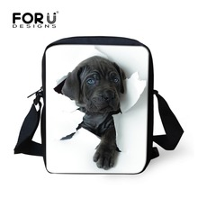 FORUDESIGNS/горячая распродажа, женские сумки-мессенджеры с 3D изображением животных, кошачья собака, голова, кросс-боди, забавные сумки для путешествий, женские маленькие сумки, женская сумка