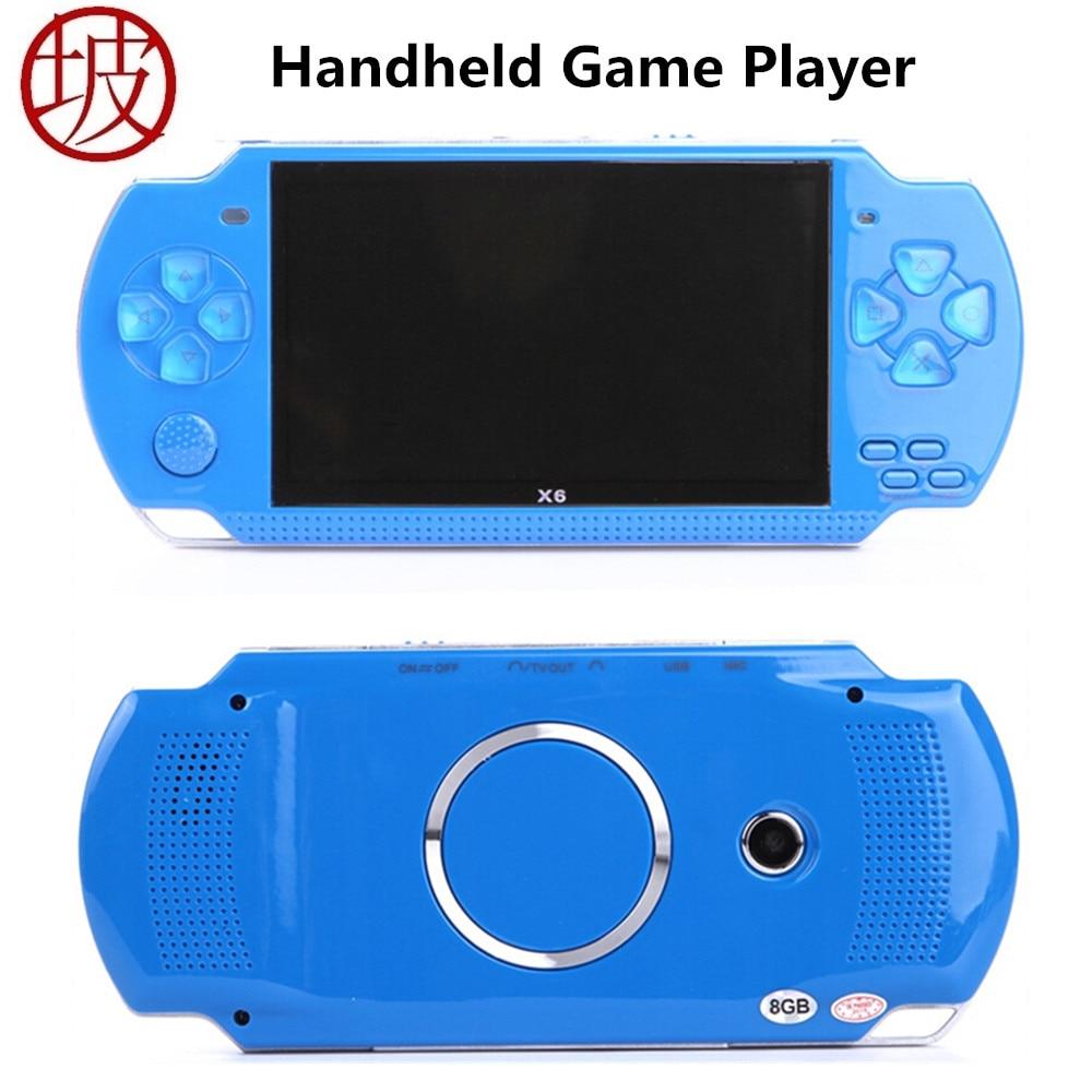 Coolbaby X6 Ручные игры 4.3 дюймов 8 ГБ Портативный MP4 Видео игровой консоли Камера электронная книга Встроенный Бесплатная 1000 + игры ТВ Выход