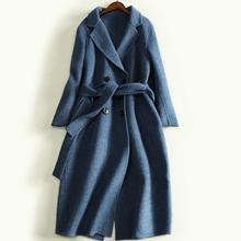 2018 Autumn and Winter New Hand-Sided Double-Sided Coat Woolen Women Long double breasted cashmere coat