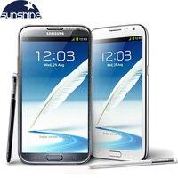 Original Unlocked Samsung Galaxy Note II N7100 N7105 Mobile Phone 5 5 Quad Core 8MP GPS