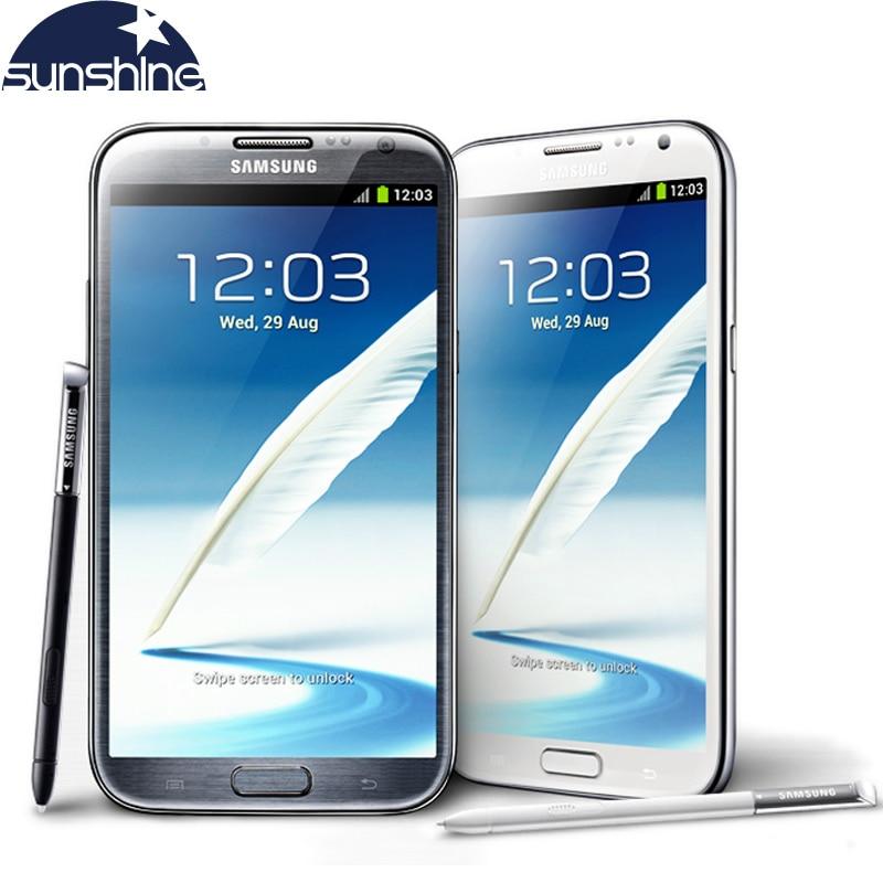 Galleria fotografica Sbloccato originale Per Samsung Galaxy Note 2 II N7100 N7105 Mobile Phone 5.5