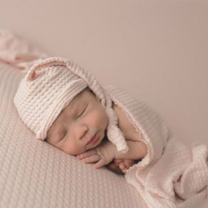 Newborn Stretch Wrap And Hat Swaddle Baby Photography Blankets Newborn Shooting Baby New Born Baby Pic