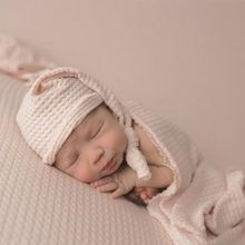 Newborn Stretch Wrap and hat Swaddle Baby Photography Blankets Shooting New born Pic