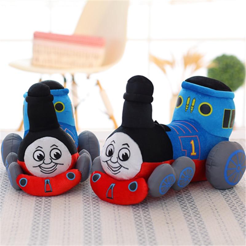 1pcs 32cm Lovely High Quality cute Thomas & Friends small train child puzzle plush toy cartoon dolls birthday gift christmas