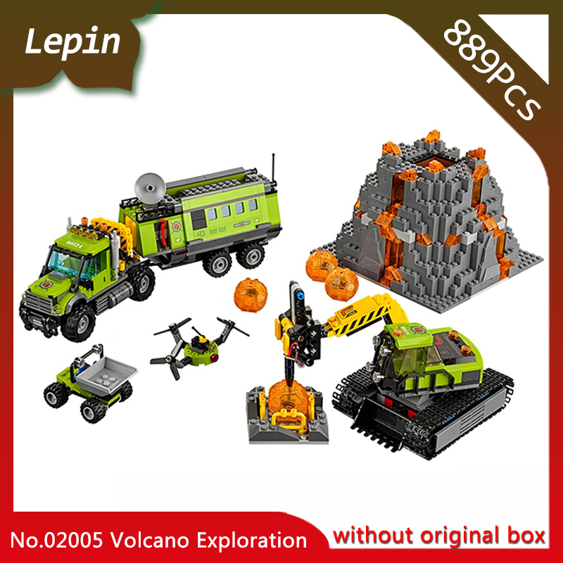 Lepin 02005 889Pcs City Series The Volcano Exploration Base Figures Model Bricks Toys Gift Compatible With 60124 стиральная машина renova ws 50 pet