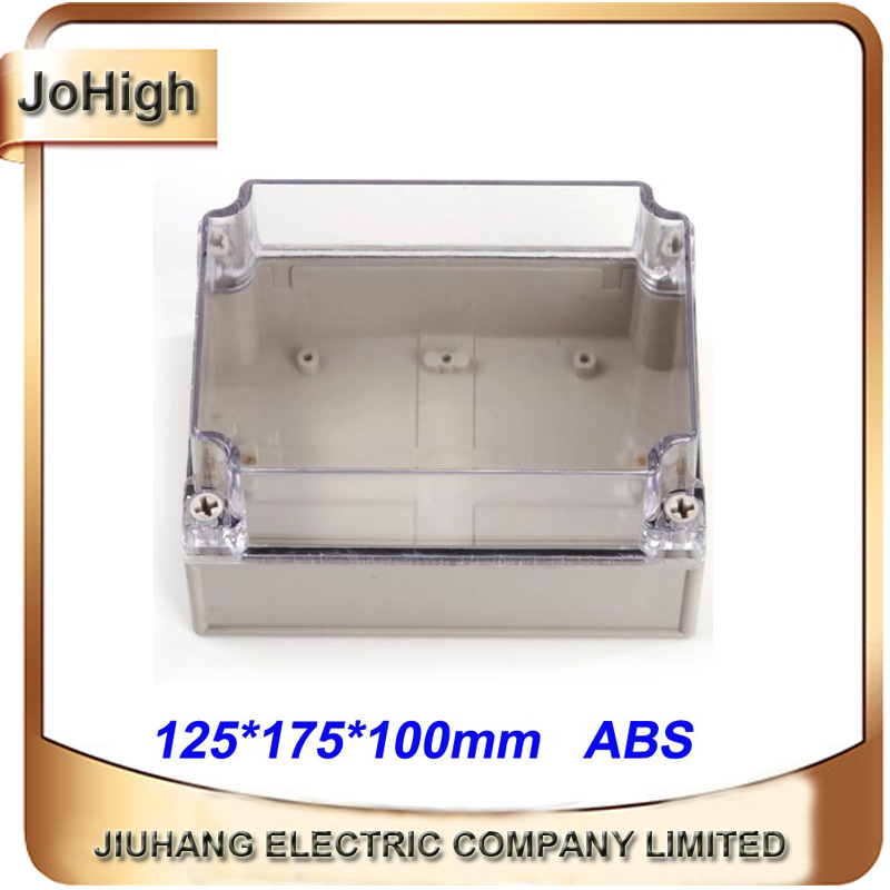 Free Shipping Top Quality PVC Cover ABS body Transparent Cover IP66 Din Rail Plastic Enclosure125*175*100mm free shipping top quality pvc cover abs body ip66 transparent cover plastic distribution box 12 way circuit breaker box