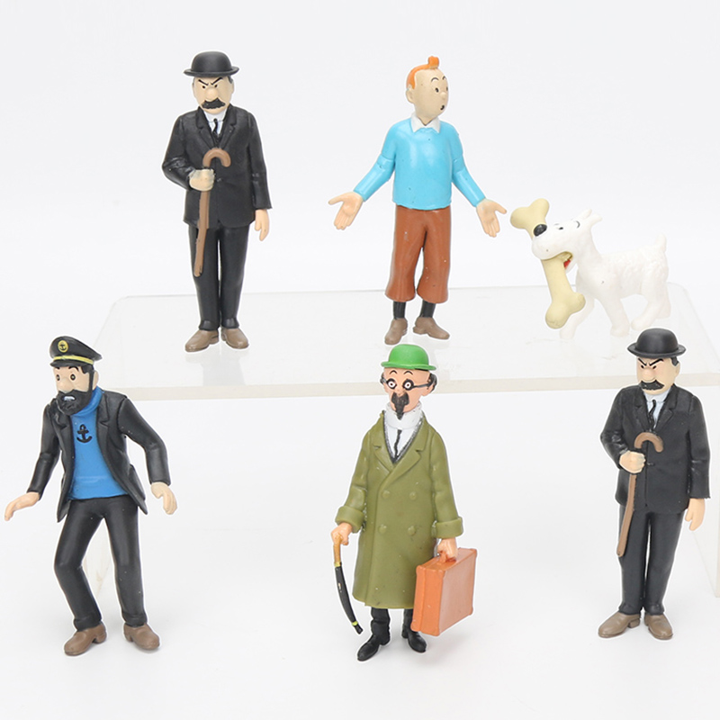 10sets The Adventures of Tintin PVC Action Figures Model Toys