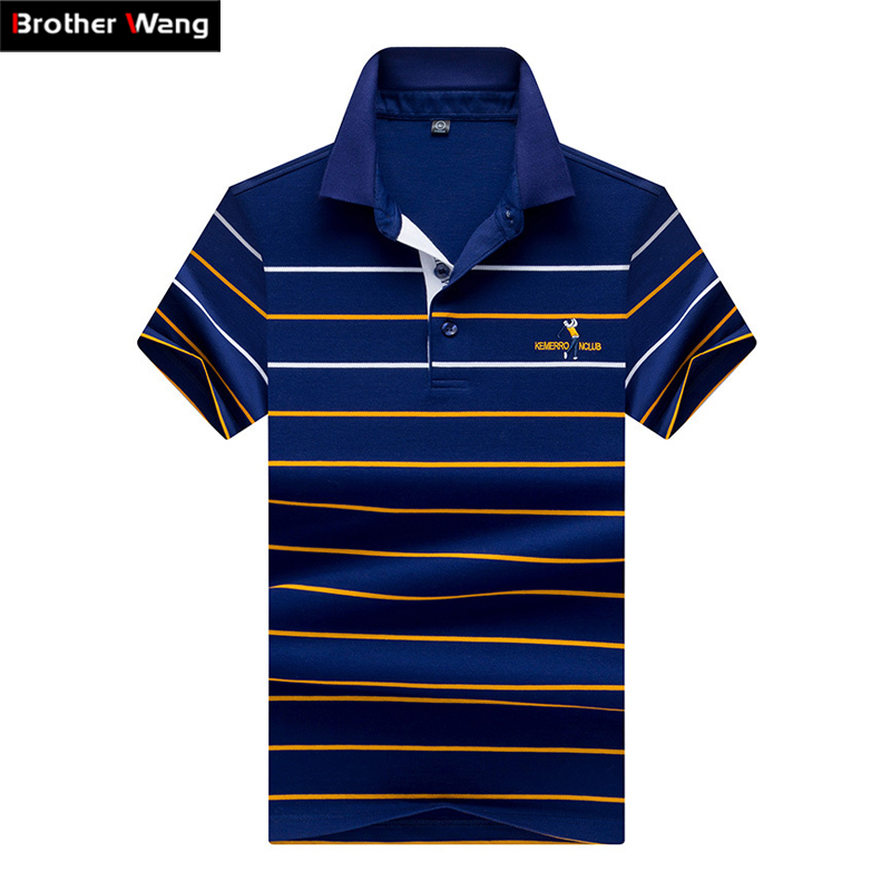 Men Clothes 2019 Summer New Style   Polo   Shirt Business Fashion Casual Stripe Embroidery Short Sleeve   POLO   Top Brands Clothing