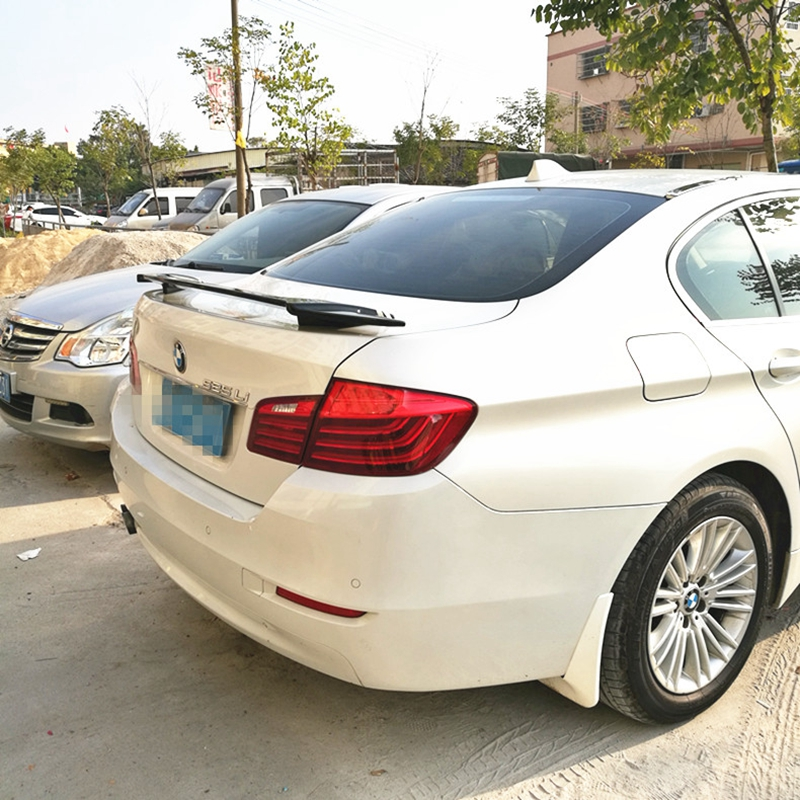 For BMW F10 F18 Spoiler ABS Material Car Rear Wing Primer
