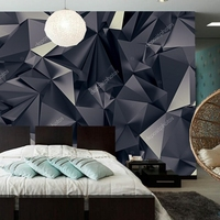 Abstract Wallpaper Abstract Black Universe Futuristic Texture Mural For Living Room Bedroom Sofa Background Wall PVC