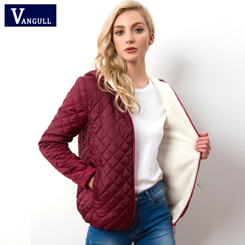 Warm lady's cotton clothes 2018 Autumn Winter casual quilted women's long sleeved Light  female cotton parka Tops 1