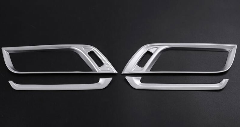ABS Chrome Center Console Side Air Conditioning Outlet Cover Trim For BMW X1 F48 2016 2017