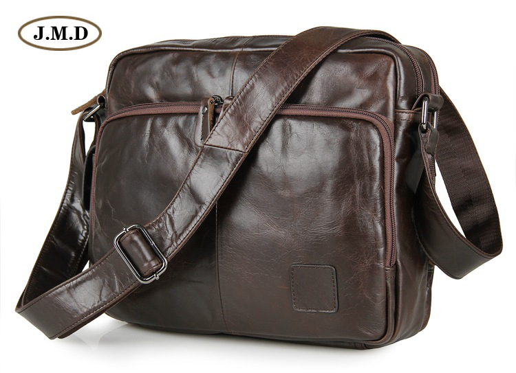 J.M.D New Style Fashion Design Men's Brown Color Briefcase Shoulder Bag Crossbody Handbags for Business Men 7332C