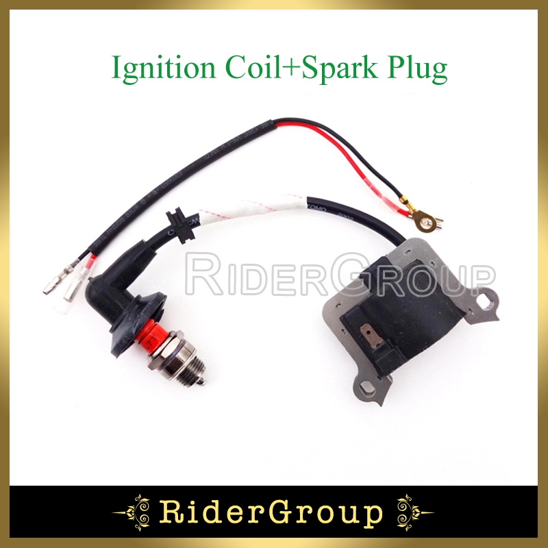 33cc 43cc 49cc ignition coil l7t spark plug for 2 stroke. Black Bedroom Furniture Sets. Home Design Ideas