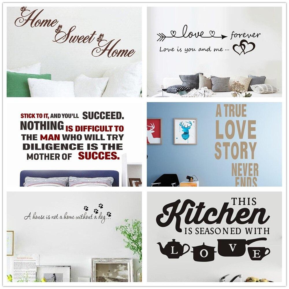 Home Sweet Home Design Single Light Switch Cover Adhesive Vinyl Sticker Decor