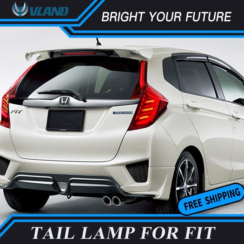 Автомобильный светодиодный задний фонарь для Honda Fit Tail Light 2015 2017 задний фонарь DRL + сигнал поворота + тормоз + задний светодиодный фонарь