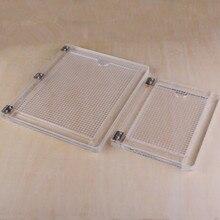 Positionneur acrylique de type cahier, dispositif de traitement de la couleur en caoutchouc, transparent, positionneur dimpression acrylique