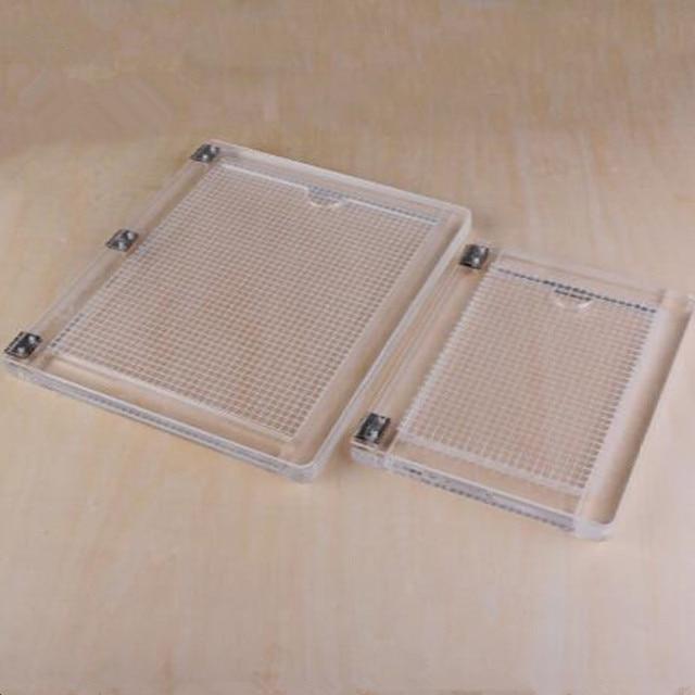 מחברת סוג אקריליק positioner גומי צבע תהליך מכשיר שקוף אקריליק הדפסת positioner