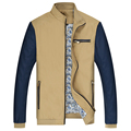 Весной и Летом Мода Мужская Куртка Плюс Размер Повседневная Хаки Пальто Мужчины Классический Верхняя Одежда Молния Polo Куртка