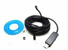 7mm Lens Endoscope Waterproof Inspection Borescope Tube USB Camera 2M Windows pc 6 LED