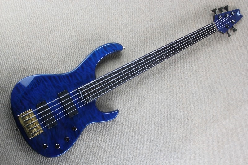 blue 5 string electric bass guitar aged modulus fb 5 bass guitar 2006 flea signature quilted. Black Bedroom Furniture Sets. Home Design Ideas