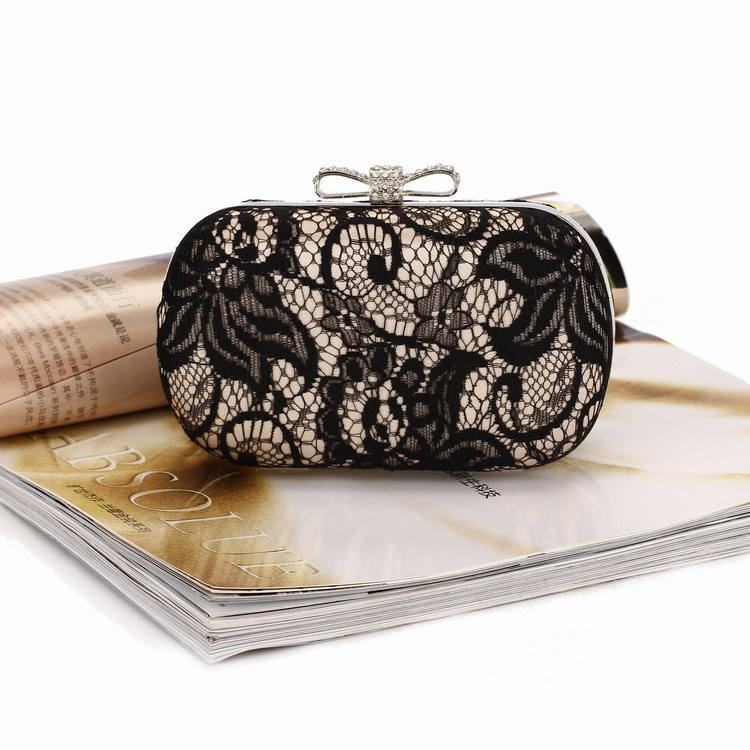 2de882bc4081 XMESSUN Brand Good Hollow Lace Clutch Bag New Lace Satin Evening Bags High  Grade Silk Bow Party Bag Exquisite Day Clutches S46-in Top-Handle Bags from  ...