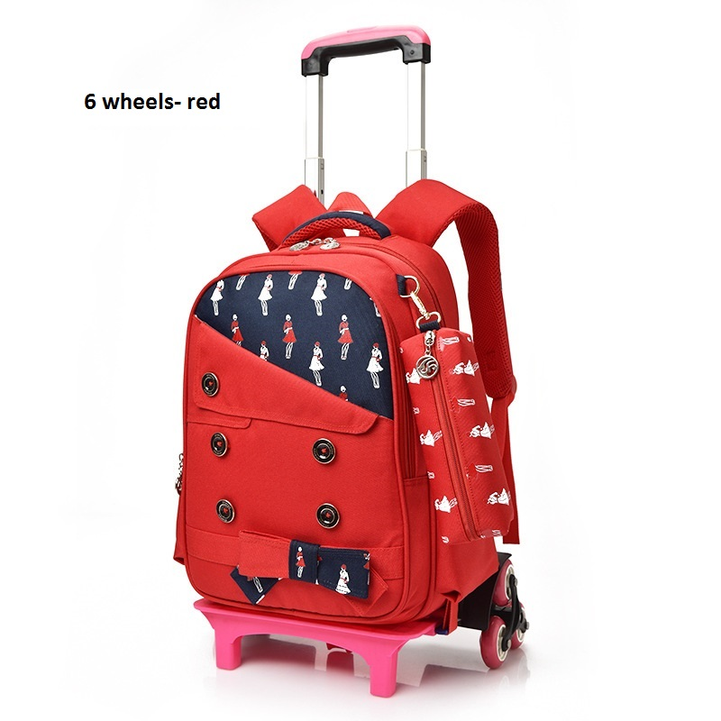Aliexpress.com : Buy Boys Trolley Backpack Girls Wheeled School ...