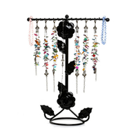 Wrought Jewelry Display Shelf Frame Earring Pendant Holder Stud Earring Accessories Storage Rack Bracelet Necklace Display