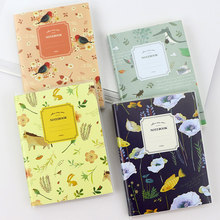 Cute Flower & Birds Notebook Diary Book Kawaii Mini Student Notepad Stationery School Supplies Gift for Kids Papelaria(China)