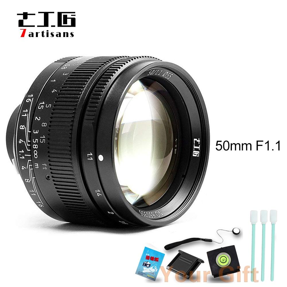 7 artisans Black/Silver 50mm F1.1Large Aperture paraxial M-mount Lens for Leica Cameras M-M M240 M3 M5 M6 M7 M8 M9 M9P M10+Gift цены онлайн