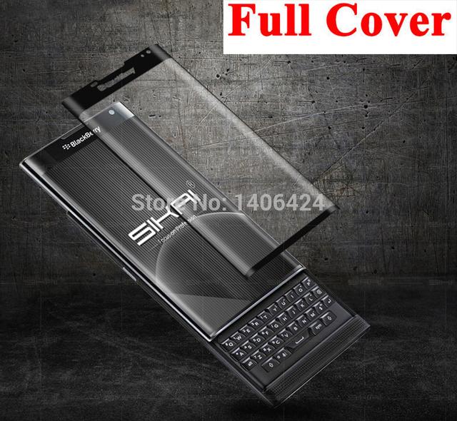 3d curvada borde completo cubierta de la alta calidad de cristal templado película protectora protector de pantalla de cine para blackberry priv