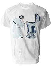Amazing DJ Leia @ R2D2 men's t-shirt