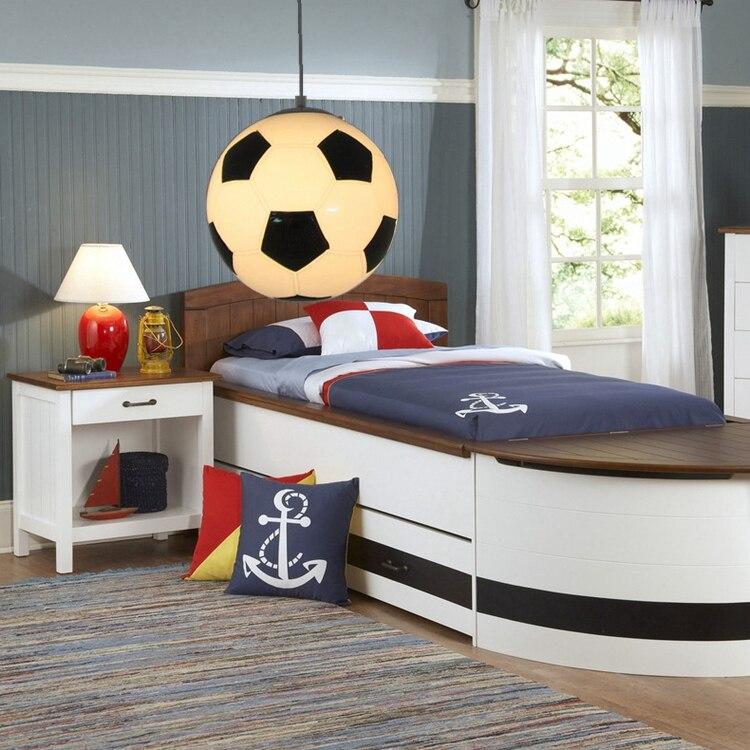 ФОТО Children's Room Indoor Fixtures Football Pendant Lamp  Droplight Haning Light Kid's Bedroom Kindergarten