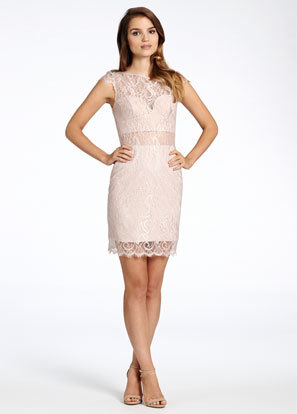 above the knee dress for wedding guest