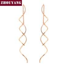 Spiral Ear Line Rose Gold Earrings