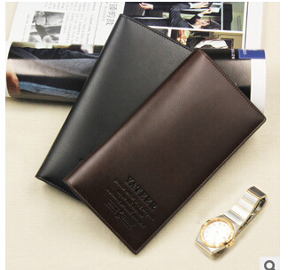 Business casual men's long wallet wallet student Men's vertical multi-card-bit cards