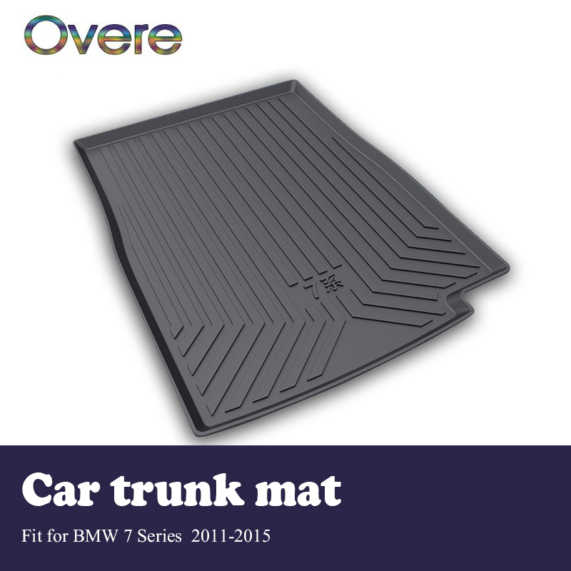 Overe 1Set Car Cargo rear trunk mat For BMW 7 Series F01 F02 F03 F04 2011-2015 Car-styling Boot Liner Anti Slip Mat Accessories цена