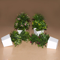 Manufacturers Selling Home Potted Flowers Plants Garden Flowers Plant Simulation Garden Green Plastic Flowers Quality
