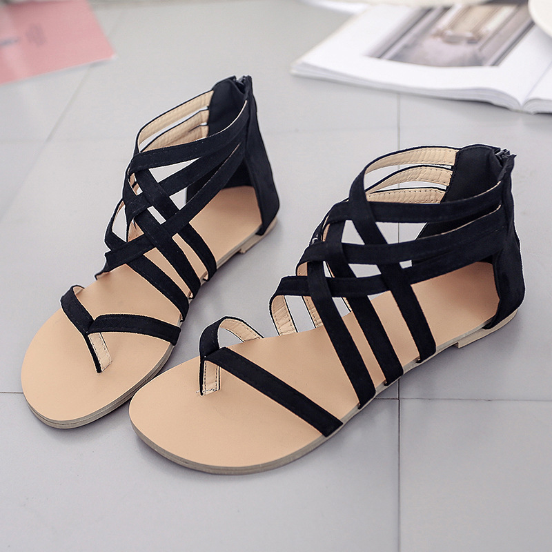 New Women Sandals Summer Fashion Flip Flops Female Sandals Flat Shoes Bohemia Causal Ladies Footwear Solid Women Shoes YBT143