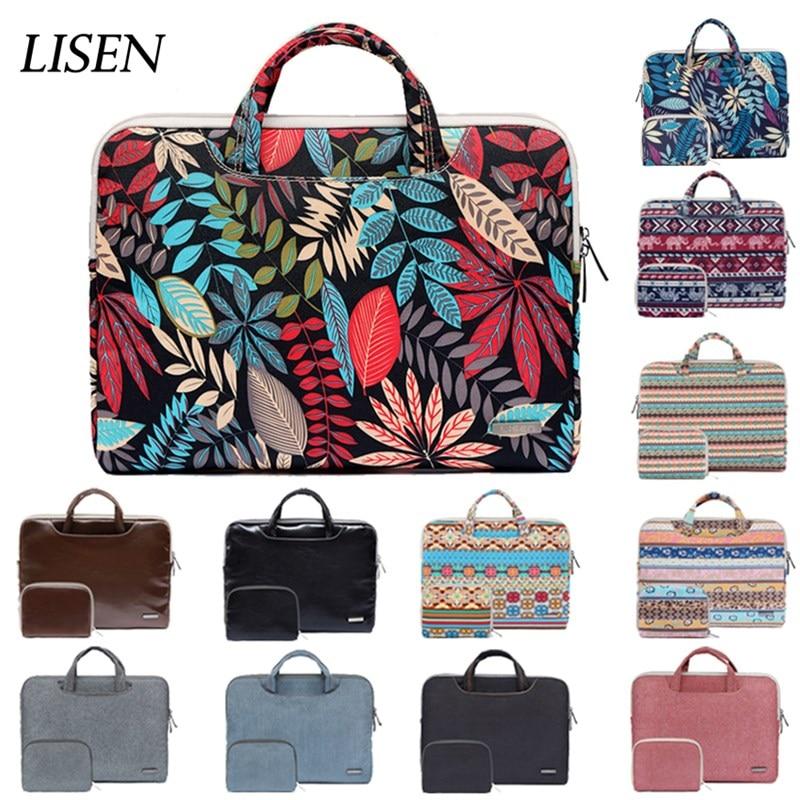 Hot Print PU Portable Handbag 14 15.6 Storage Bag For Macbook Air Pro Retina 11 12 13 15 Laptop For Dell HP Xiaomi Notebook Case