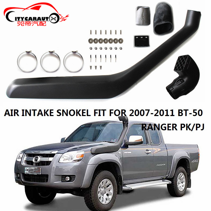 CITYCARAUTO AIRFLOW SNOKEL KIT AIR FILTER Fit FOR MAZDA BT50 BT-50 FORD RANGER PK/PJ 2007-2011 Air Intake LLDPE Snorkel Kit Set citycarauto 2007 2011 airflow snokel fit for jeep wrangler jk series 3 8l v6 air ram intake snorkel kit black