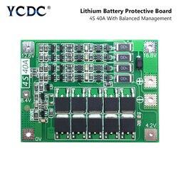 4S 40A 4S40A BMS 14,8 V 16,8 V 18650 26650 литий-ионная батарея Защитная плата PCB с сбалансированной версией для сверла 40A ток
