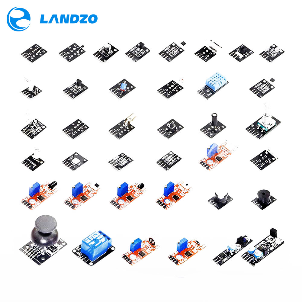LANDZO Electronic Technology Co.,Ltd 37 IN 1 SENSOR KITS FOR ARDUINO HIGH-QUALITY For Arduino Starters free shipping (Works with Official for Arduino Boards)