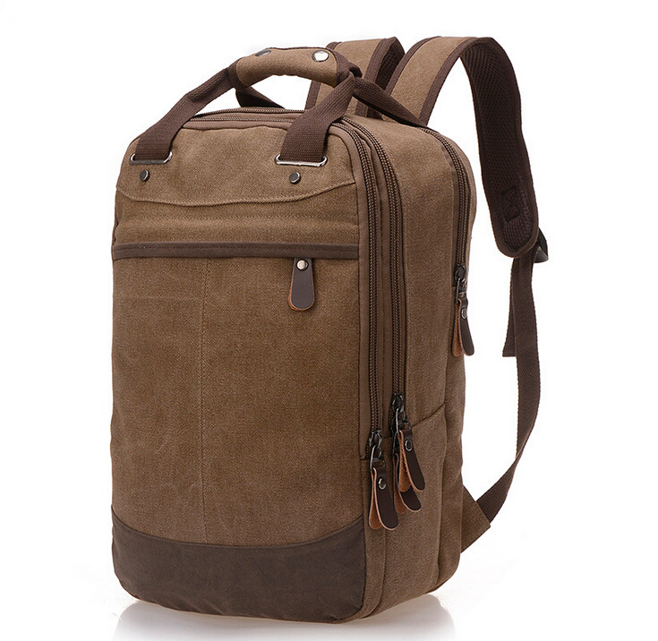 X-Online new hot good quality unisex woman man canvas backpack school bag travel bags ...