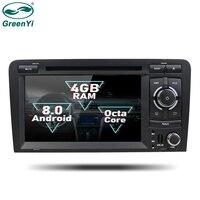 GreenYi 2 Din Android 8,0 Octa Core dvd плеер автомобиля для Audi TT 2006 2013 gps навигация Мультимедиа Радио стерео Штатная