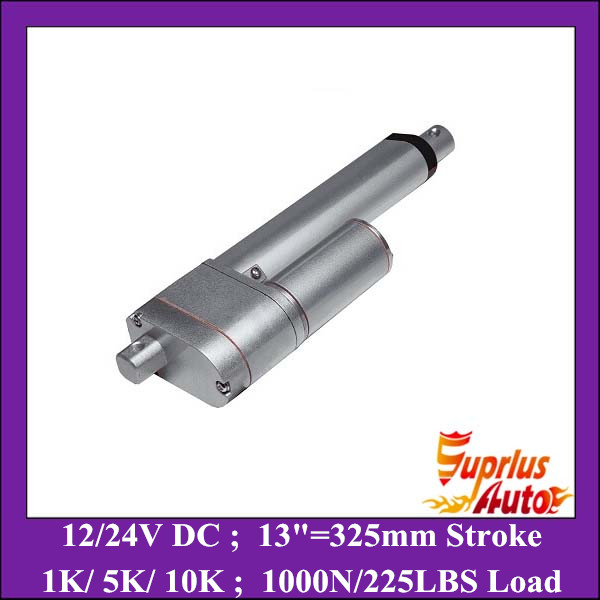 ФОТО 13inch (325mm) stroke 12v dc linear actuators with potentiometer, 1000N/ 225LBS force linear motor with position feedback